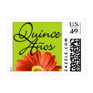 Mis Quince Años Bright Flower Postage Stamps