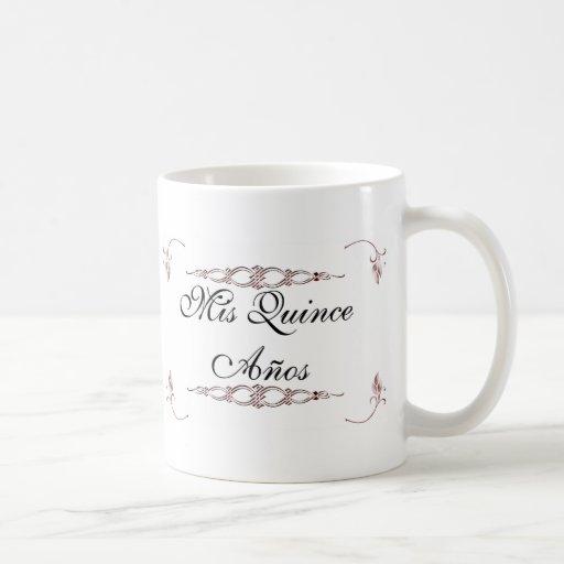 Mis quince años classic white coffee mug