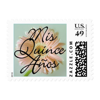 Mis Quince Años Pink Daisy Postage Stamps