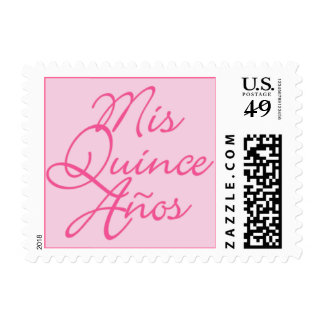 Mis Quince Años Pink Postage Stamps