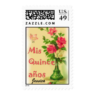"""Mis quince años"" postage Stamps Sellos"