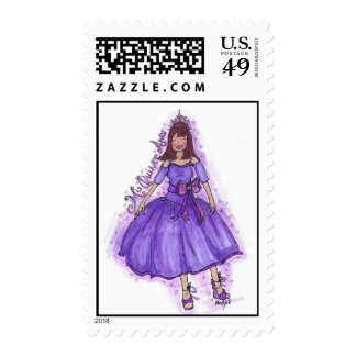 MIS QUINCE ANOS - PURPLE STAMPS