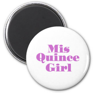 Mis Quince Girl 2 Inch Round Magnet