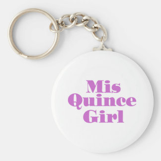 Mis Quince Girl Keychain
