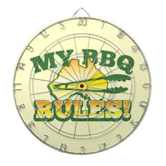 ¡Mis REGLAS del Bbq! diseño australiano de la barb Tabla Dardos