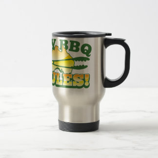 ¡Mis REGLAS del Bbq! diseño australiano de la barb Taza De Café