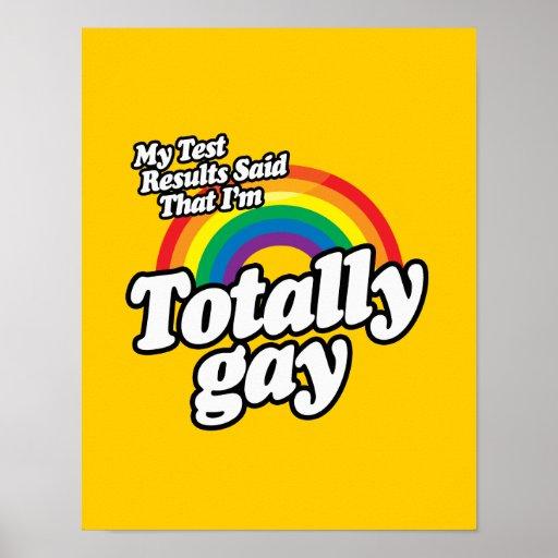 MIS RESULTADOS DE LA PRUEBA DIJERON AL GAY POSTERS