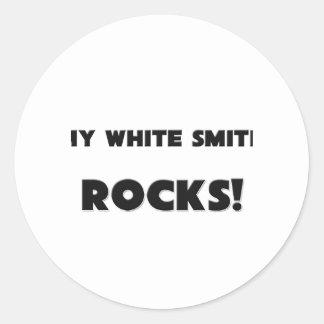 ¡MIS ROCAS blancas de Smith! Etiqueta Redonda