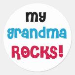 Mis rocas de la abuela etiquetas redondas
