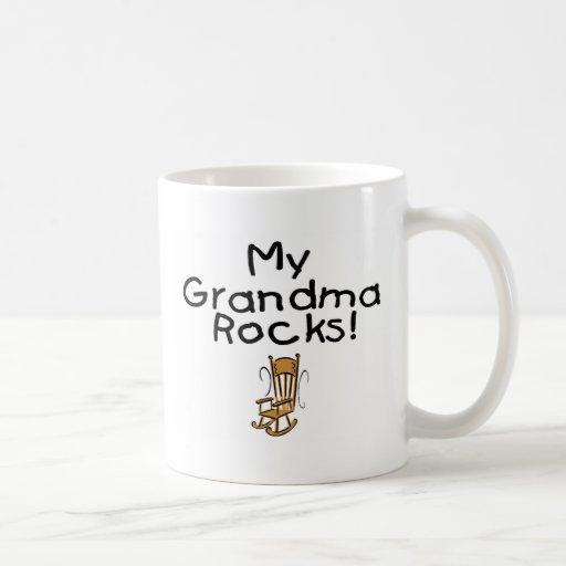 ¡Mis rocas de la abuela! Taza Básica Blanca