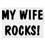 Mis rocas de la esposa tarjeton