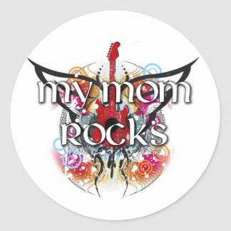 Mis rocas de la mamá etiqueta redonda