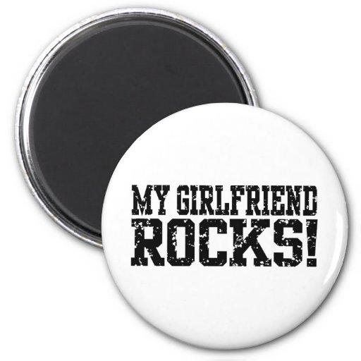 Mis rocas de la novia imán redondo 5 cm