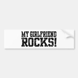 Mis rocas de la novia pegatina para auto