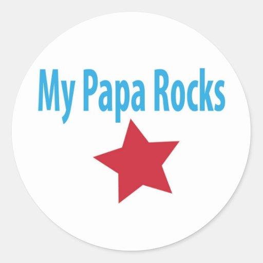 Mis rocas de la papá pegatina redonda