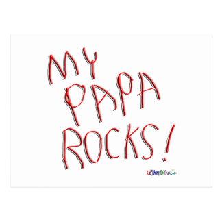 ¡Mis rocas de la papá! Postal