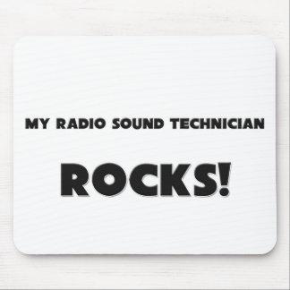 ¡MIS ROCAS de radio del técnico sano! Tapetes De Ratón