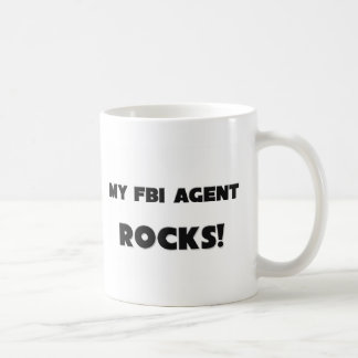 ¡MIS ROCAS del agente del FBI! Taza De Café