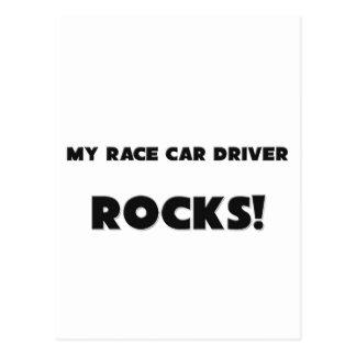 ¡MIS ROCAS del conductor de coche de carreras Postales