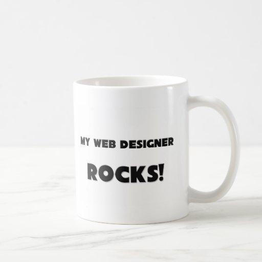 ¡MIS ROCAS del diseñador del Web! Taza Básica Blanca