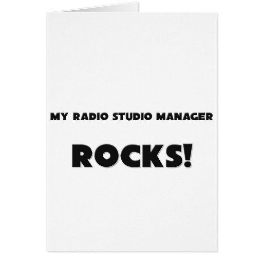 ¡MIS ROCAS del encargado del estudio de la radio! Tarjeta De Felicitación