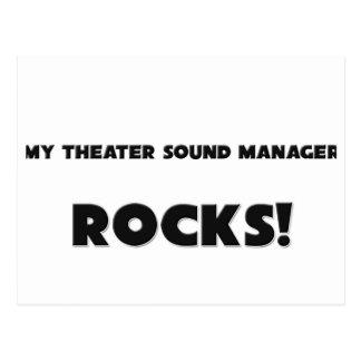 ¡MIS ROCAS del encargado del sonido del teatro! Postal