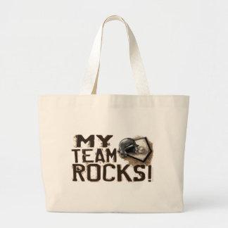 ¡Mis rocas del equipo! Bolso Bolsa De Tela Grande
