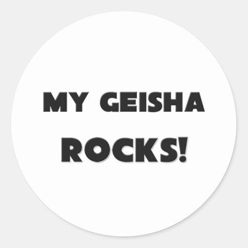 ¡MIS ROCAS del geisha! Etiquetas Redondas