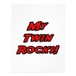 Mis rocas del gemelo tarjeton