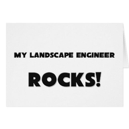 ¡MIS ROCAS del ingeniero del paisaje! Tarjeta De Felicitación