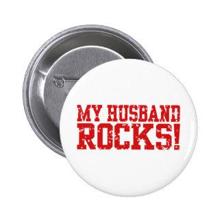 Mis rocas del marido pin redondo de 2 pulgadas