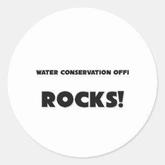 ¡MIS ROCAS del oficial de la protección de agua Etiqueta Redonda