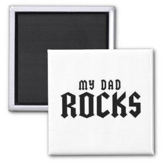 Mis rocas del papá iman de frigorífico