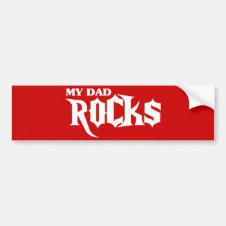 Mis rocas del papá pegatina para auto