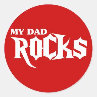 Mis rocas del papá pegatina redonda