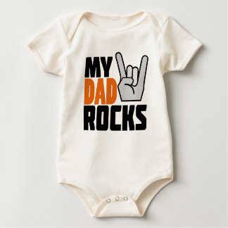 ¡Mis rocas del papá! Trajes De Bebé