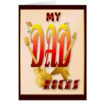 ¡Mis rocas del papá! Tarjeta