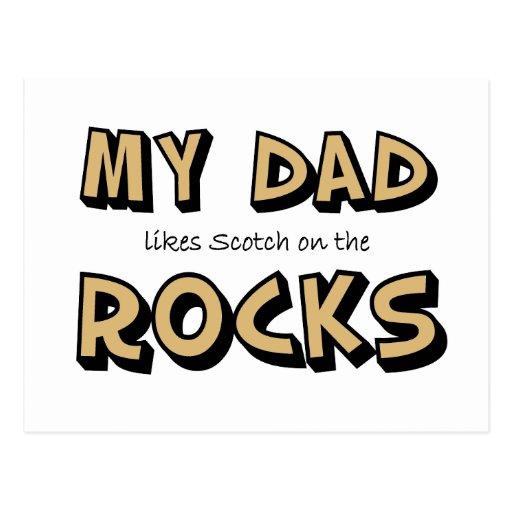 Mis rocas del papá tarjeta postal