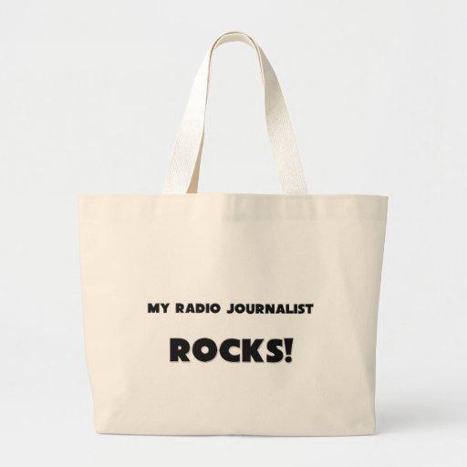 ¡MIS ROCAS del periodista de la radio! Bolsa Tela Grande