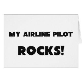 ¡MIS ROCAS del piloto de la línea aérea! Tarjeton