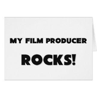 ¡MIS ROCAS del productor cinematográfico! Tarjeta De Felicitación