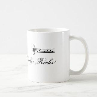 Mis rocas del profesor de música tazas de café