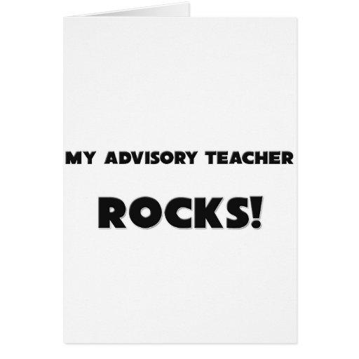 ¡MIS ROCAS del profesor del Advisory! Tarjetas