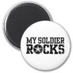 Mis rocas del soldado imán para frigorifico