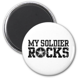 Mis rocas del soldado imán redondo 5 cm