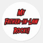Mis rocas del suegro pegatina redonda