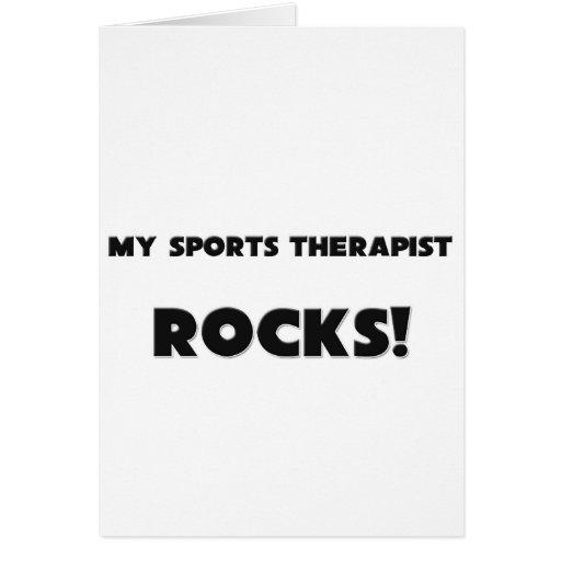 ¡MIS ROCAS del terapeuta de los deportes! Tarjeta De Felicitación