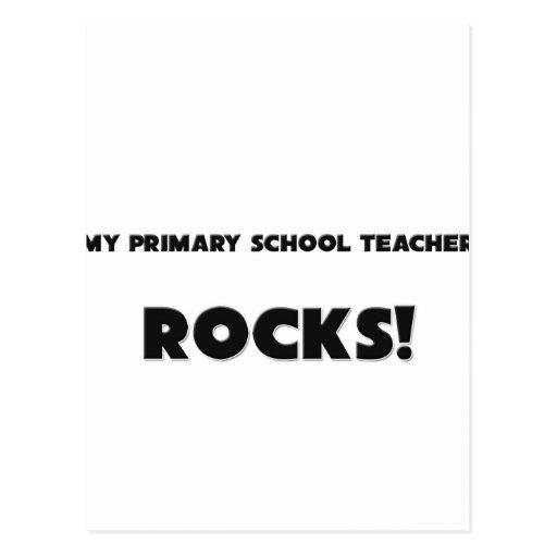 ¡MIS ROCAS primarias del profesor de escuela! Postal