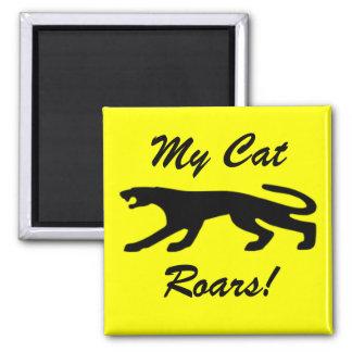 Mis rugidos del gato iman