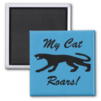 Mis rugidos del gato imanes para frigoríficos